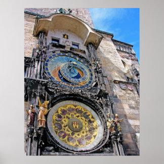 Astronomical Clock, Old Town, Prague(2) Poster