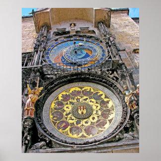 Astronomical Clock, Old Town, Prague(3) Poster