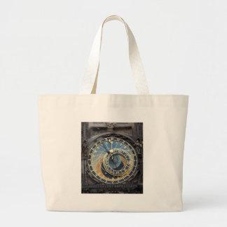 Astronomical Clock or Prague Orloj Canvas Bags