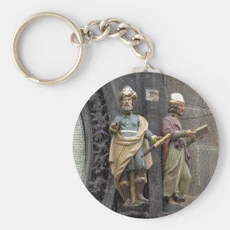 Astronomical Clock or Prague Orloj Basic Round Button Keychain