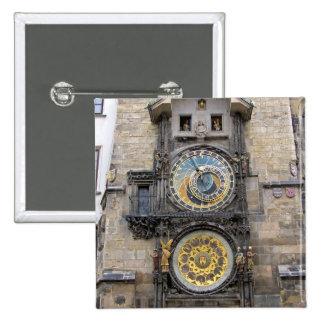 Astronomical Clock or Prague Orloj Button