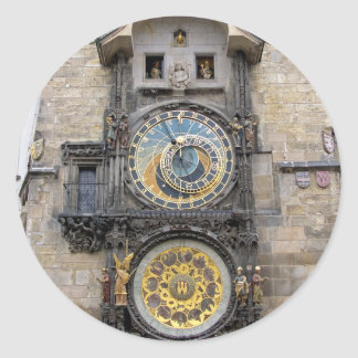 Astronomical Clock or Prague Orloj Classic Round Sticker