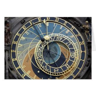 Astronomical Clock or Prague Orloj Greeting Card