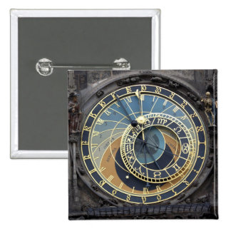 Astronomical Clock or Prague Orloj Pinback Button