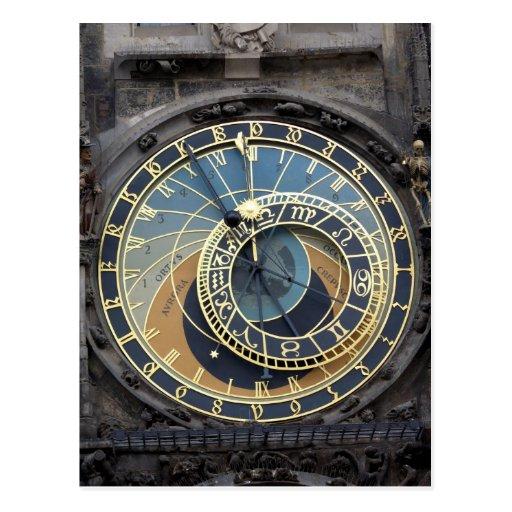 Astronomical Clock or Prague Orloj Postcard