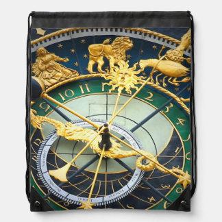 Astronomical Clock Drawstring Backpack