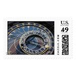 Astronomical clock postage stamp