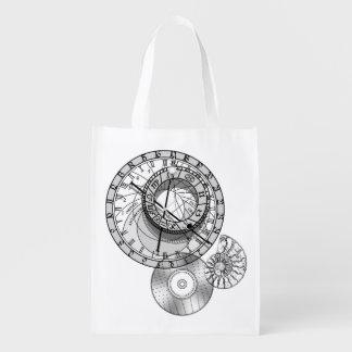 < Astronomical clock > Prague astronomical clock Reusable Grocery Bag