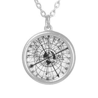 astronomical clock round pendant necklace