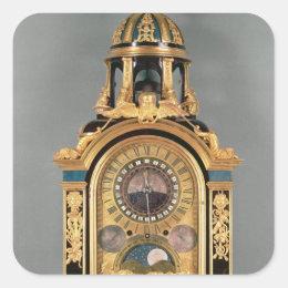 Astronomical clock square sticker