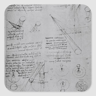 Astronomical diagrams, from the Codex Square Sticker
