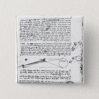 Astronomical diagrams pinback button