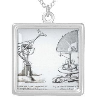 Astronomical Instruments Square Pendant Necklace
