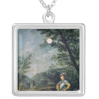 Astronomical Observations Silver Plated Necklace