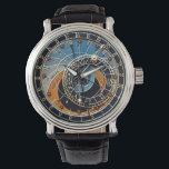 "Astronomical watch<br><div class=""desc"">The face of this watch is based on the 24hr astronomical clock in Prague,  but has been modified to suit a conventional 12 hour clock/watch.</div>"