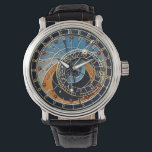 """Astronomical watch<br><div class=""""desc"""">The face of this watch is based on the 24hr astronomical clock in Prague,  but has been modified to suit a conventional 12 hour clock/watch.</div>"""