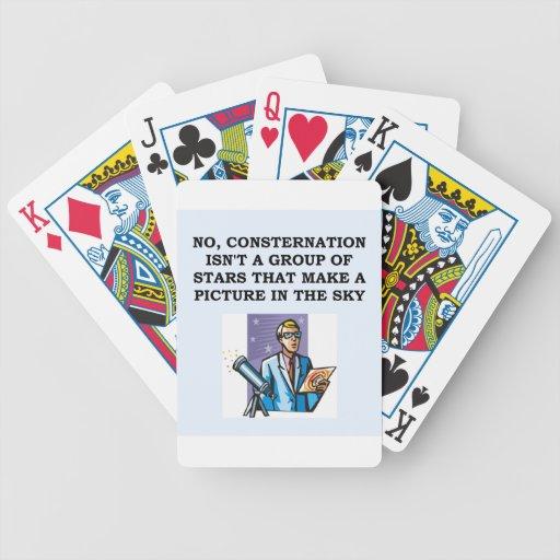 astrónomo de la astronomía cartas de juego