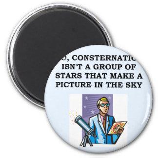 astrónomo de la astronomía imán redondo 5 cm