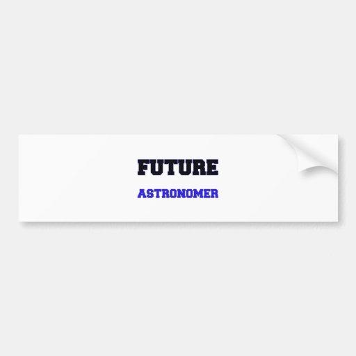 Astrónomo futuro etiqueta de parachoque