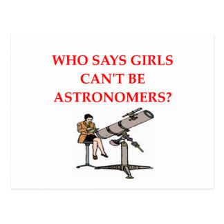astrónomos de las mujeres tarjetas postales