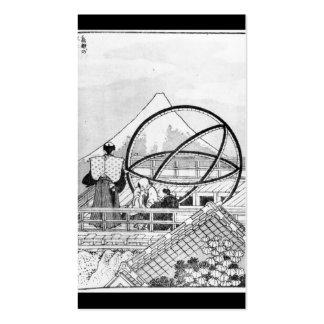 Astrónomos que trabajan durante el período de Edo Tarjetas De Visita