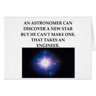 astronomy and engineering card