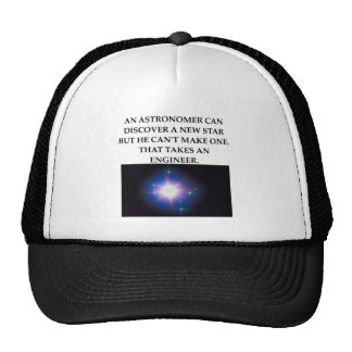 astronomy and engineering trucker hats