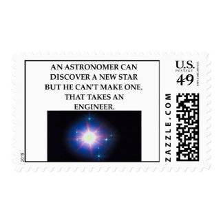 astronomy and engineering postage stamp