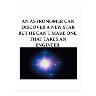 astronomy and engineering postcard