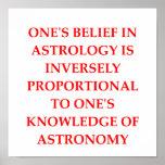 astronomy astrology joke poster