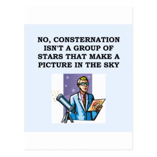 astronomy astronomer postcard
