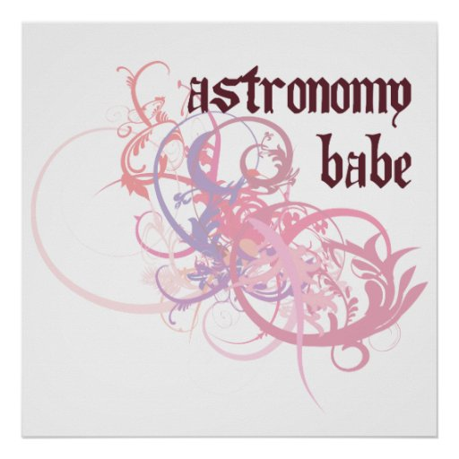 Astronomy Babe Print