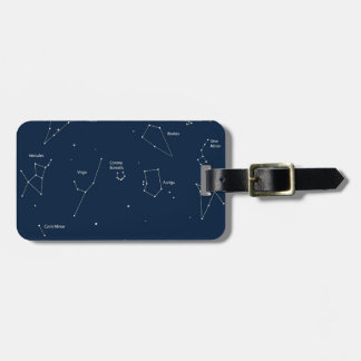 astronomy background luggage tag