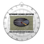 Astronomy Becomes Existential When Realize Dark Dartboards