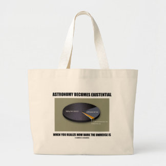 Astronomy Becomes Existential When Realize Dark Jumbo Tote Bag