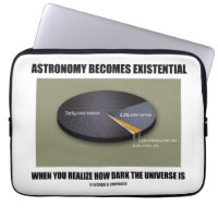 Astronomy Becomes Existential When Realize Dark Laptop Computer Sleeve