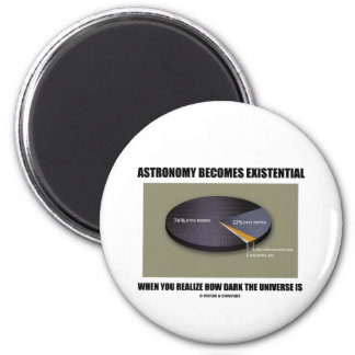 Astronomy Becomes Existential When Realize Dark Refrigerator Magnet