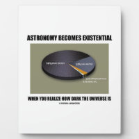 Astronomy Becomes Existential When Realize Dark Photo Plaques