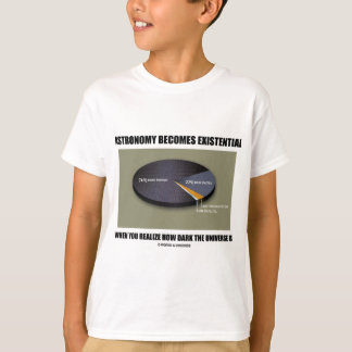 Astronomy Becomes Existential When Realize Dark T-Shirt