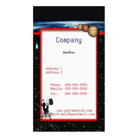 Unique Professional Astronomy Business Cards