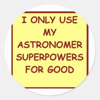 astronomy classic round sticker