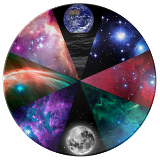 Astronomy Collage Dinner Plate