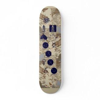 Astronomy cool geek skateboard   skateboard