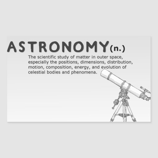 Astronomy definition/Telescope Drawing Sticker