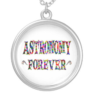 Astronomy Forever Round Pendant Necklace