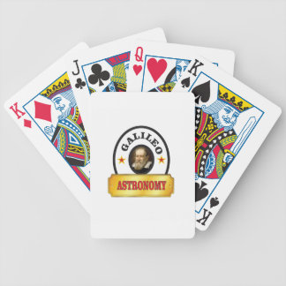 astronomy galileo bicycle playing cards