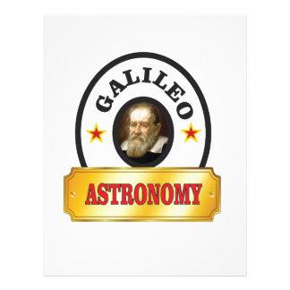 astronomy galileo letterhead