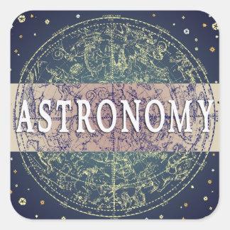 Astronomy Genre Book Cover Square Sticker