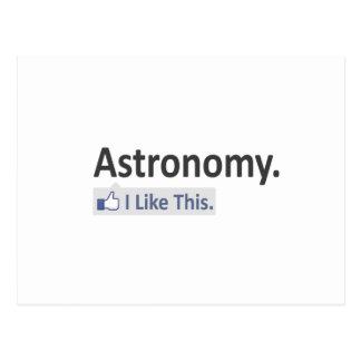 Astronomy...I Like This Postcard