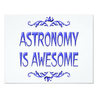 Astronomy is Awesome Custom Invitation